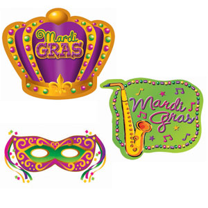 Mardi Gras Value Pack Cutouts- 30pc