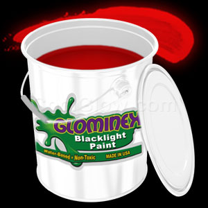 Glominex Blacklight UV Reactive Paint Gallon - Red
