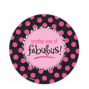 Another Year of Fabulous 9 Inch Plates- 8ct