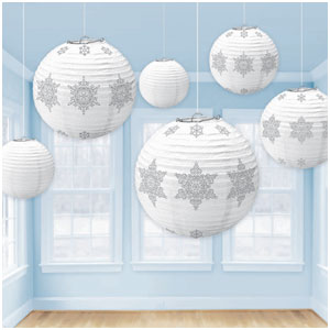 Winter Snowflake Lanterns- 6ct