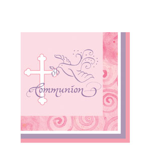Communion Luncheon Napkin - Pink