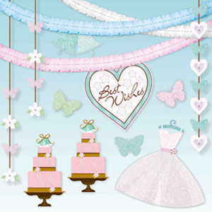 Blushing Bride Room Decorating Kit - 14ct
