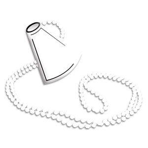 Megaphone Necklace - White