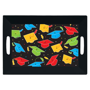 Graduation Square 14 Inch Tray