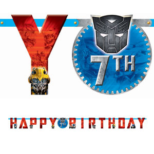 Transformers 3 Add-An-Age Letter Banner- 12ft