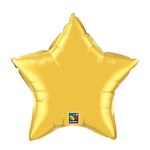 20 Inch Star Metallic Balloon- Metallic Gold