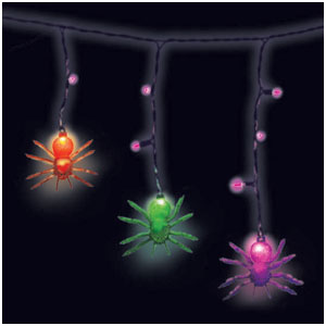 Dangling Spider Electric Lights- 11ft