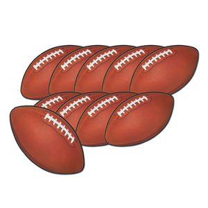 Mini Football Cutouts- 10ct