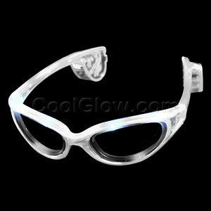 Fun Central AD625 LED Light Up Sunglasses - White