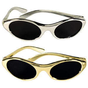 Silver and Gold Oval Sunglasses- 12ct