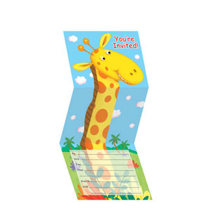 Jungle Buddies Z Fold Invitations- 8ct
