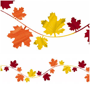 Fall Leaves Wire Garland- 12ft