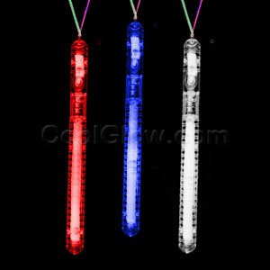 LED Illuminated Stick Necklace - Red-White-Blue