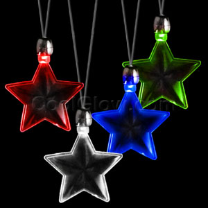 LED Pendant Necklace - Assorted Star