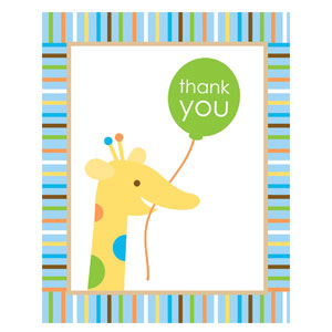 Sweet at One Thank You Cards - 8ct