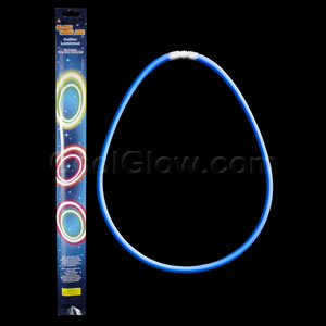 22 Inch Retail Packaged Glow Necklaces - Blue