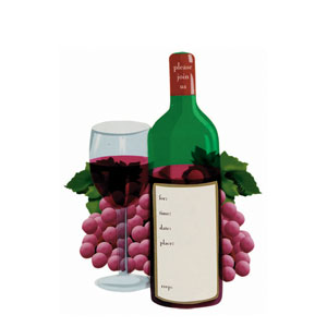 Wine Jumbo Invitation- 8ct