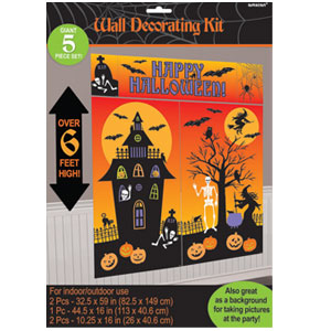 Halloween Room Decorating Kit- 5ct