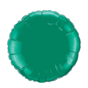18 Inch Round Metallic Balloon- Emerald Green