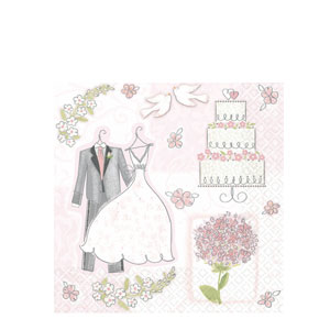 Sweet Romance Luncheon Napkins- 16ct