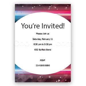 Rainbow Neon - Custom Invitations