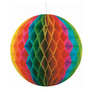 Multicolor Honeycomb Ball Decoration- 11in