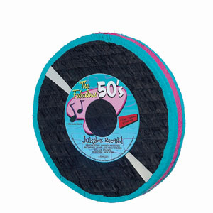 Rock and Roll Record Pinata
