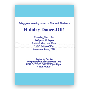 Light Blue - Custom Invitations