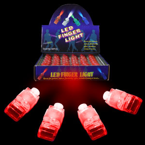 Fun Central I441 LED Light Up Finger Lights - Red 36ct