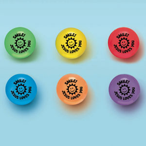 Religious Bounce Ball Favors- 12ct