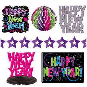 Jewel Tones New Years Decoration Kit - 10pc