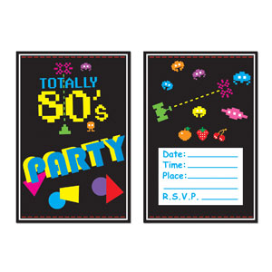 Retro Invitations - 8ct