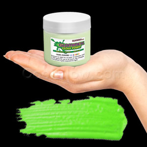 Glominex Glow Paint 8 oz Jar - Invisible Day Green