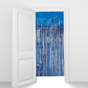 Blue Foil Door Curtain- 8ft