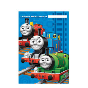 Thomas The Tank Folded Loot Bags- 8ct