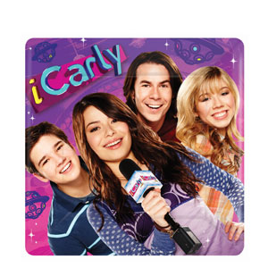 iCarly Square 10 Inch Plates- 8ct