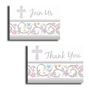 Blessed Day Invitation and Thank You Card Set- 16ct