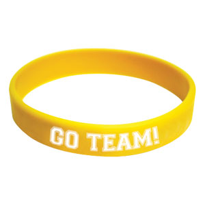 Go Team Wristband - Yellow