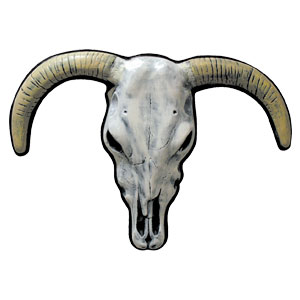 Longhorn Skull Head Decoration- 33 Inch