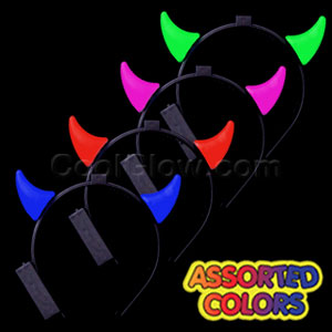 Fun Central O994 LED Light Up Devil Horns Headband - Assorted
