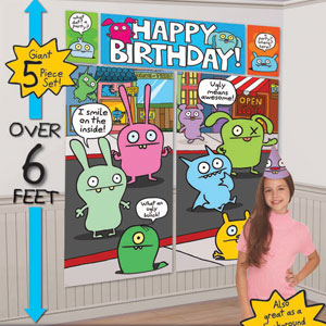 Ugly Doll Wall Decorating Kit- 5pc