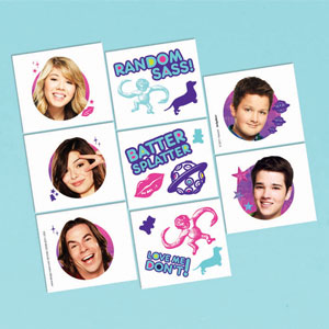 iCarly Tattoo Favors- 16ct