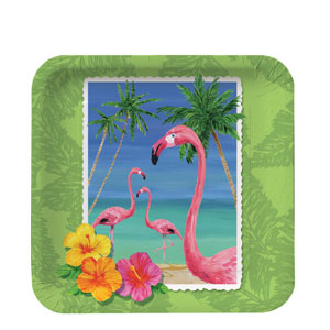 Tropical 7 Inch Plates- 8ct