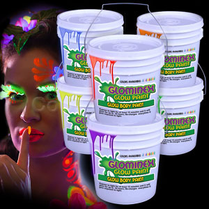 Glominex Glow Body Paint 128oz Buckets - Assorted