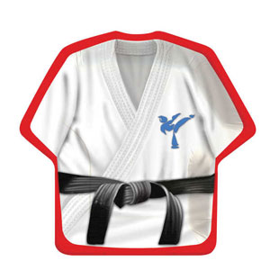 Black Belt 10 Inch Shirt Shaped Plates- 8ct