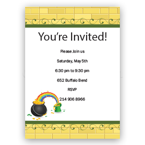 Gold Brick Rainbow - Custom Invitations