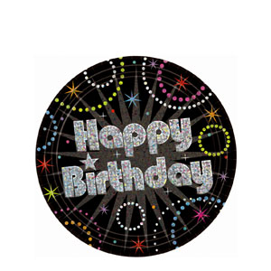 Time to Party 7 Inch Prismatic Plates- 8ct