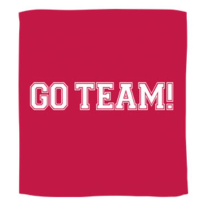 Go Team Towel - Red