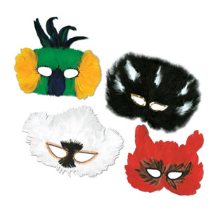 Mardi Gras Fanci-Feather Masquerade Masks