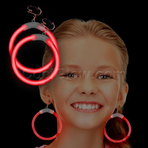 Glow Earrings - Red